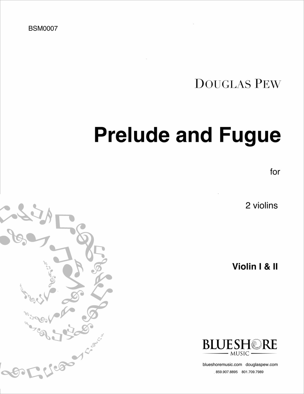 Prelude and Fugue , for 2 Violins