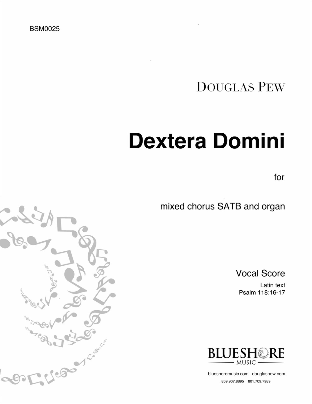 Dextera Domini, for SATB and Organ