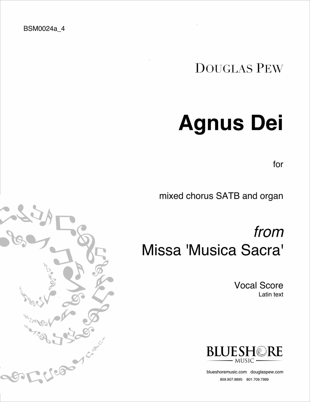 Agnus Dei, for SATB and Organ, or Double Choir a cappella