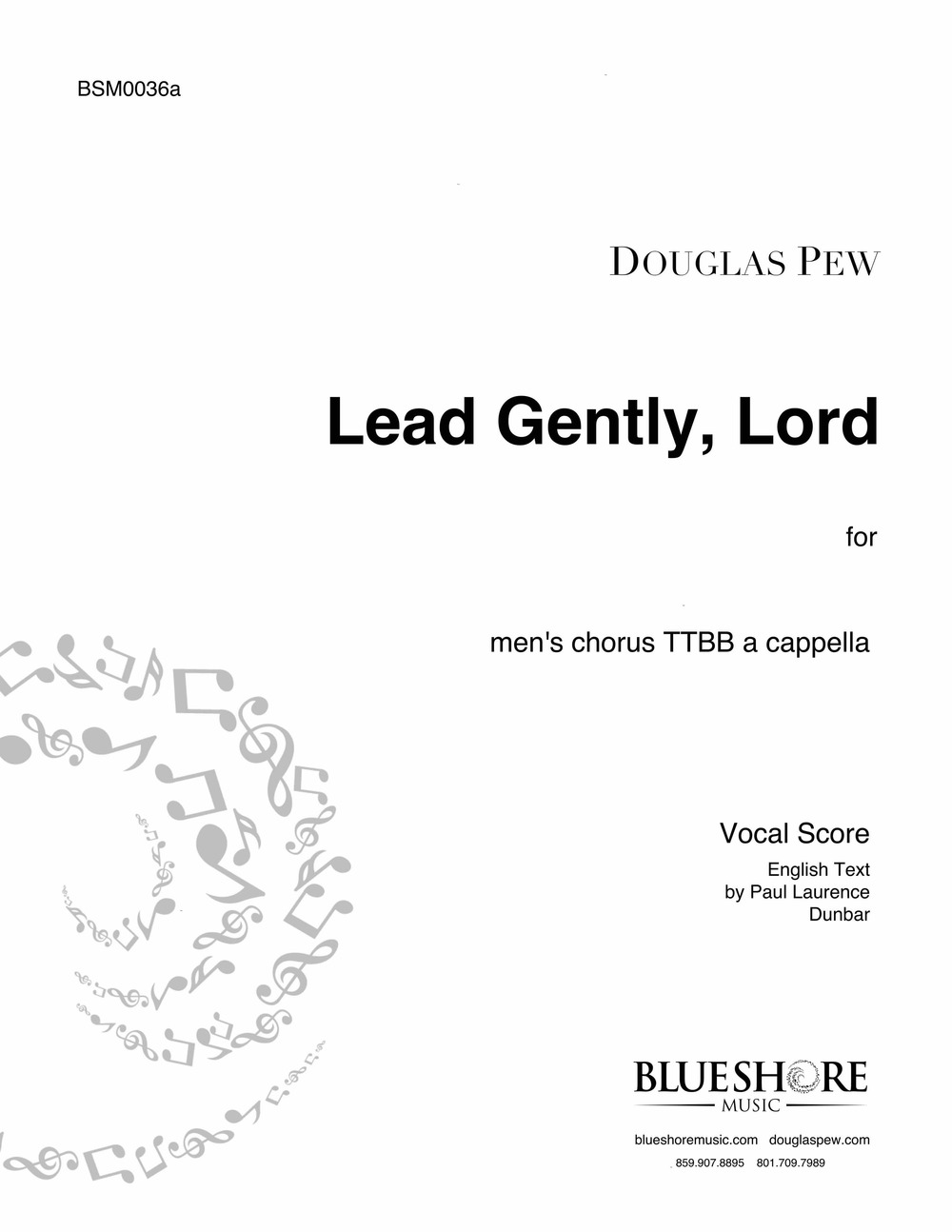 Lead Gently, Lord , for TTBB (or SATB) a cappella
