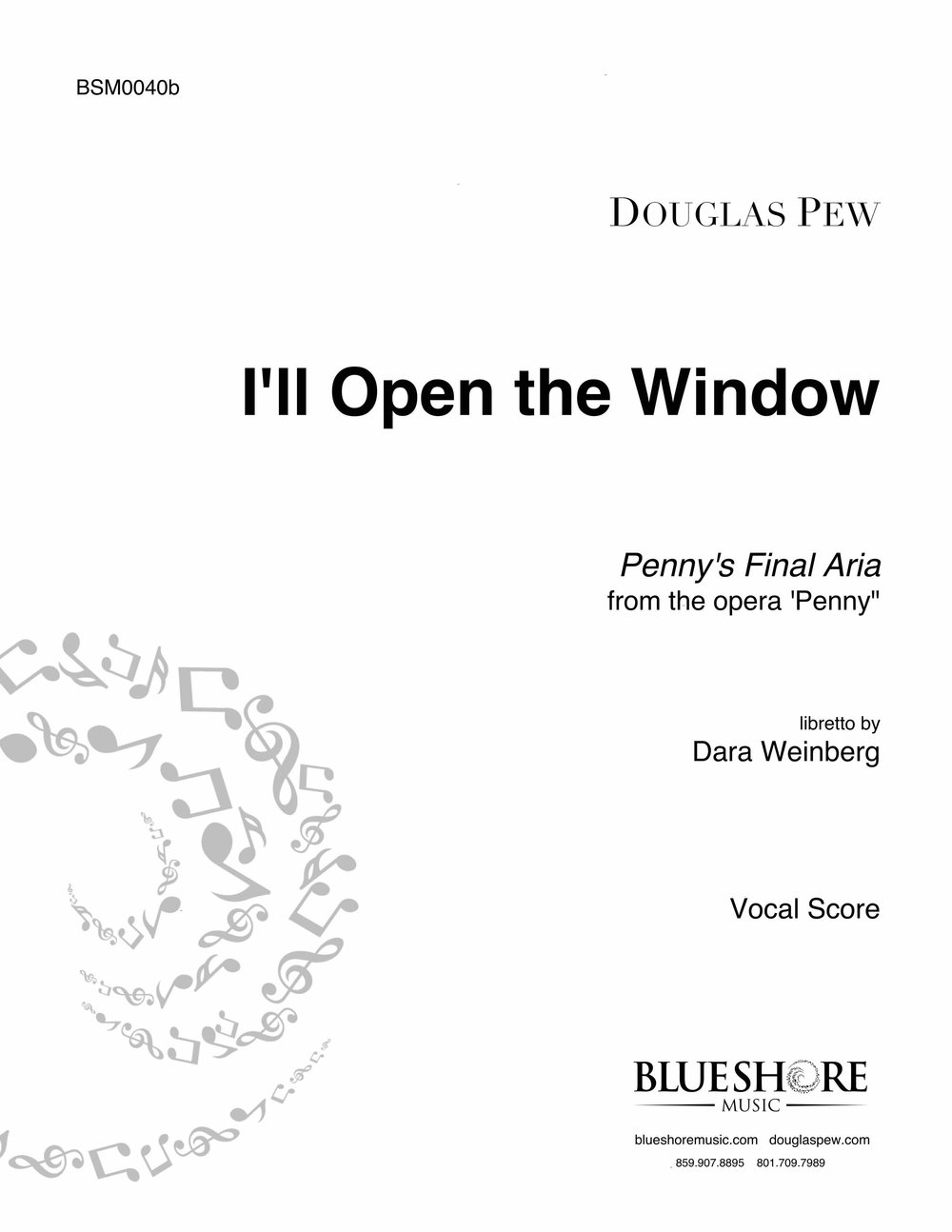 I'll Open The Window, for Mezzo and Piano