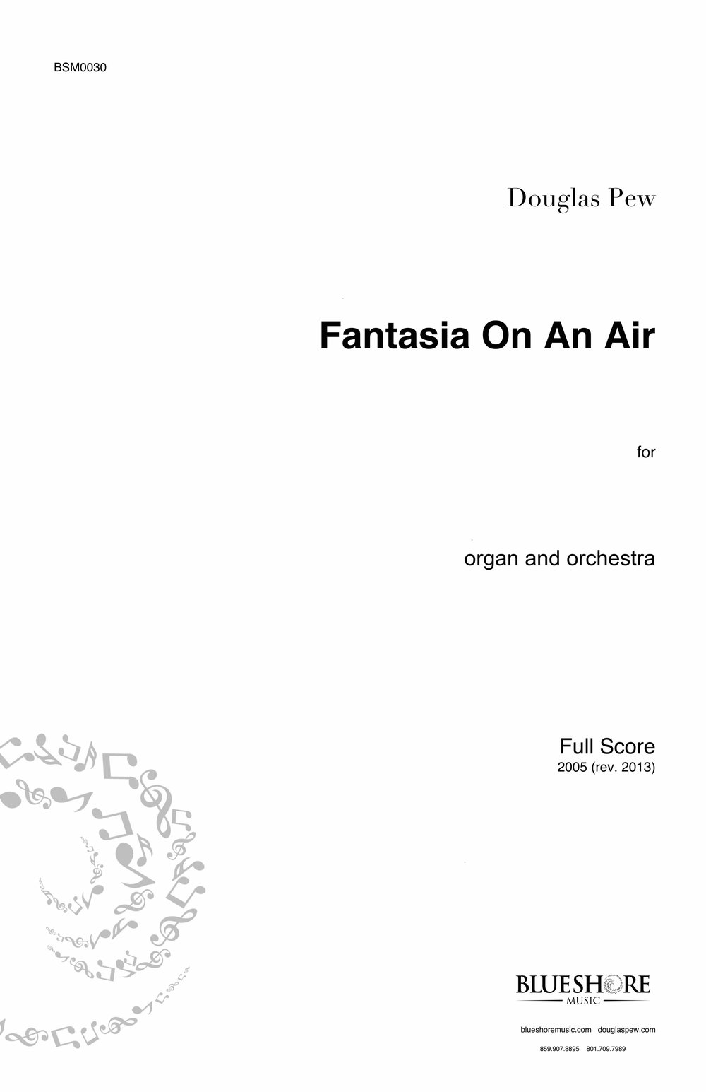 Fantasia On An Air, for Organ and Orchestra