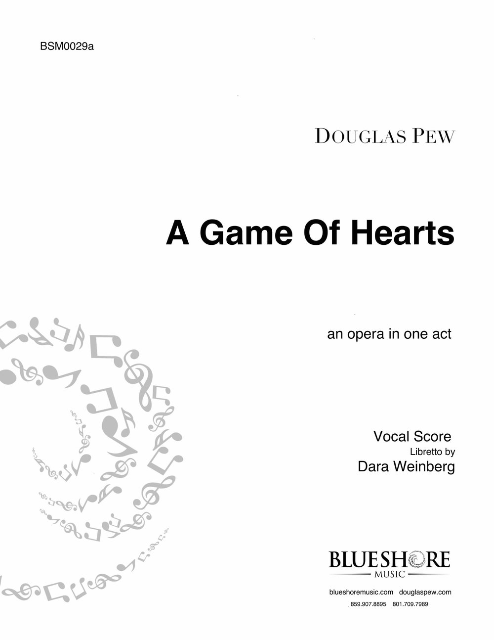 A Game of Hearts, an opera in one act