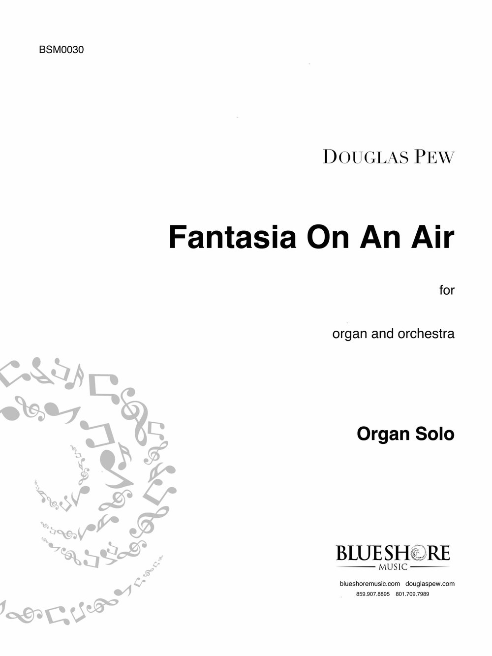 Fantasia On An Air , for Organ and Orchestra