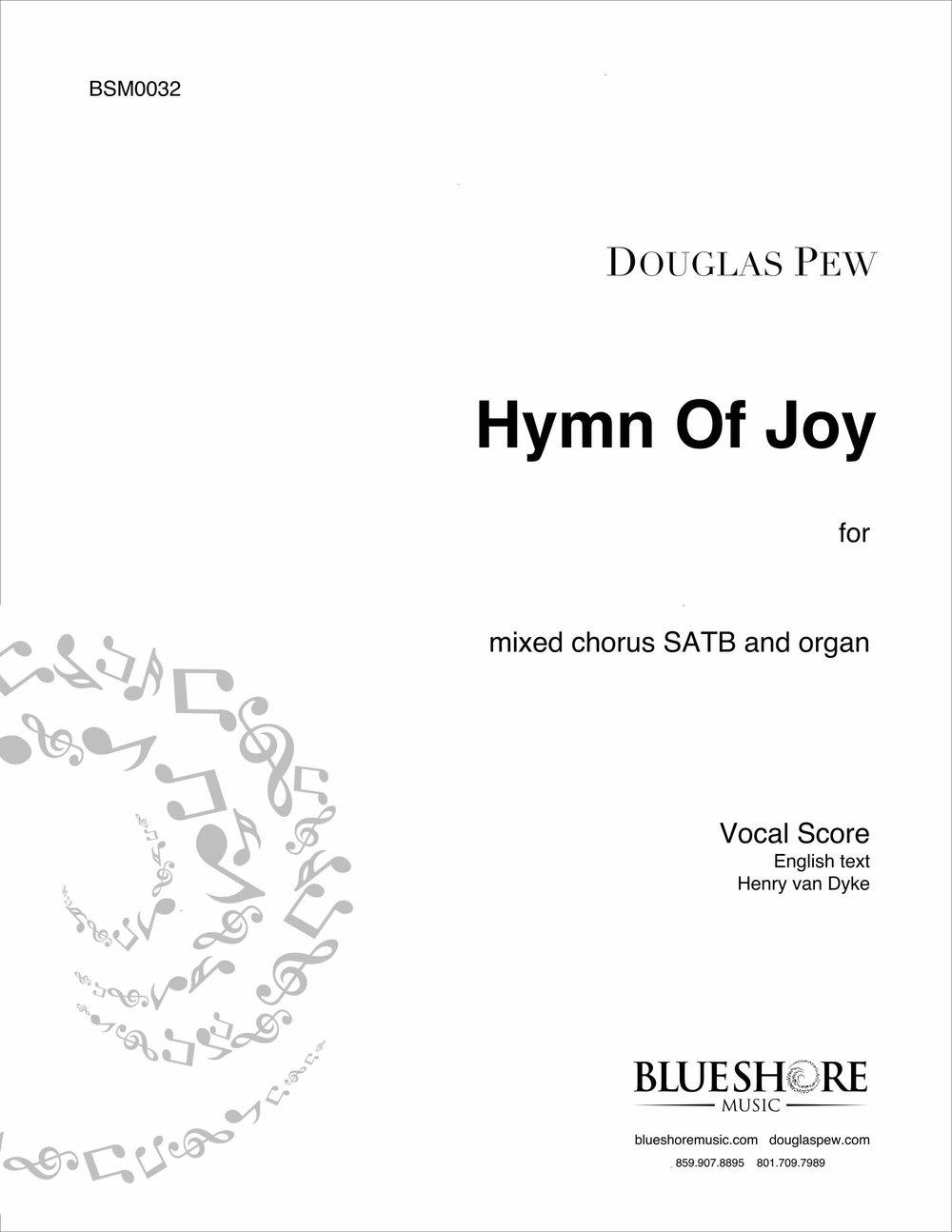 Hymn of Joy  , for SATB and Organ