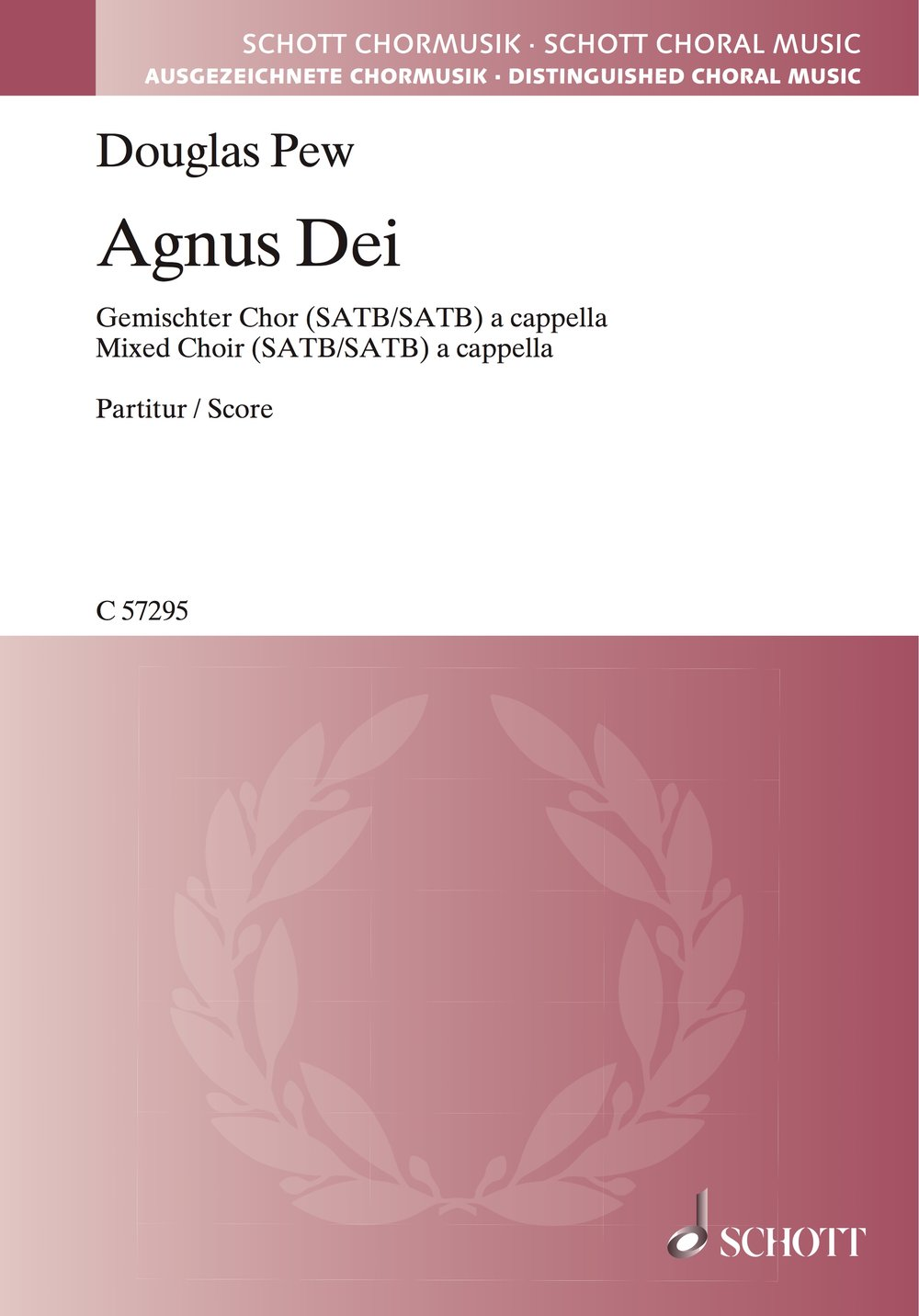 Agnus Dei  , for Double Mixed Chorus a cappella