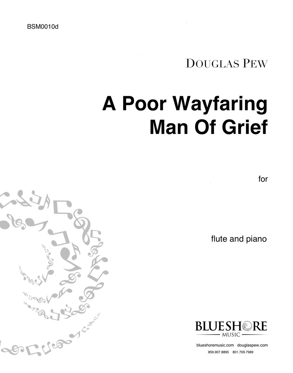 A Poor Wayfaring Man Of Grief, for Solo Woodwind Instrument and Piano