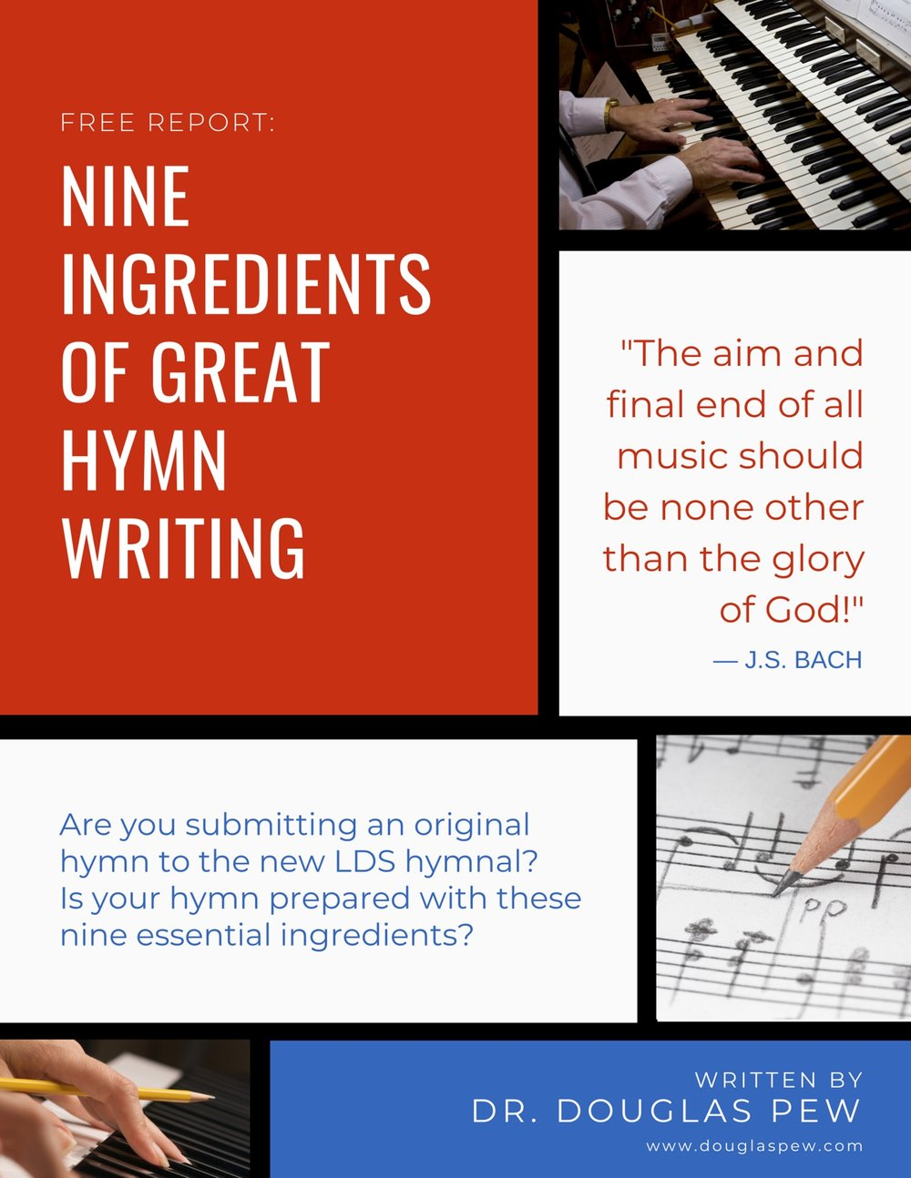 Free Report: 9 Ingredients of Great Hymn Writing