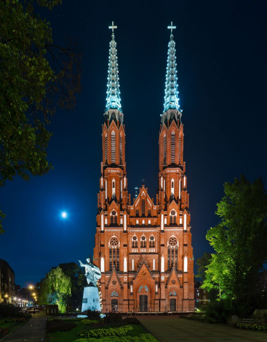 St. Florian's Cathedral in Warsaw, Poland where I was assistant conductor and wrote my dissertation, a full-scale Catholic Mass.