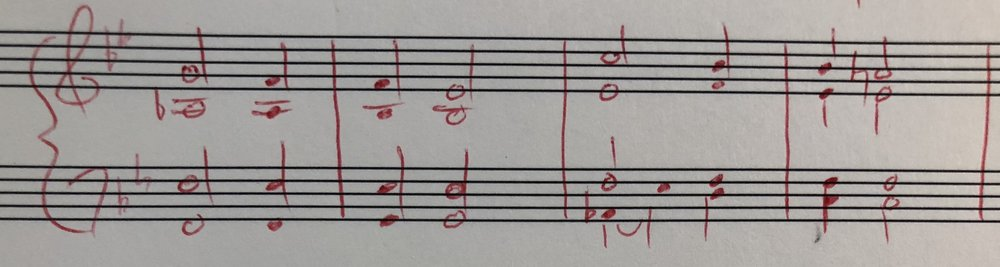 #2 - A little French harmony at first mixed with the A-flat-ness.