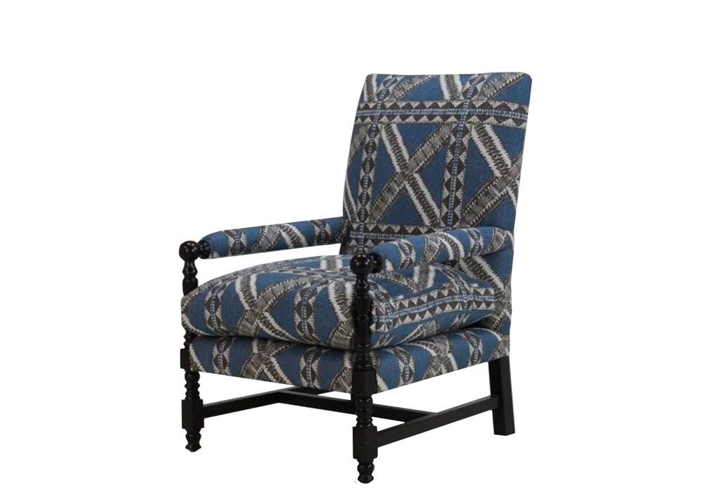 Napa chair with custom fabric