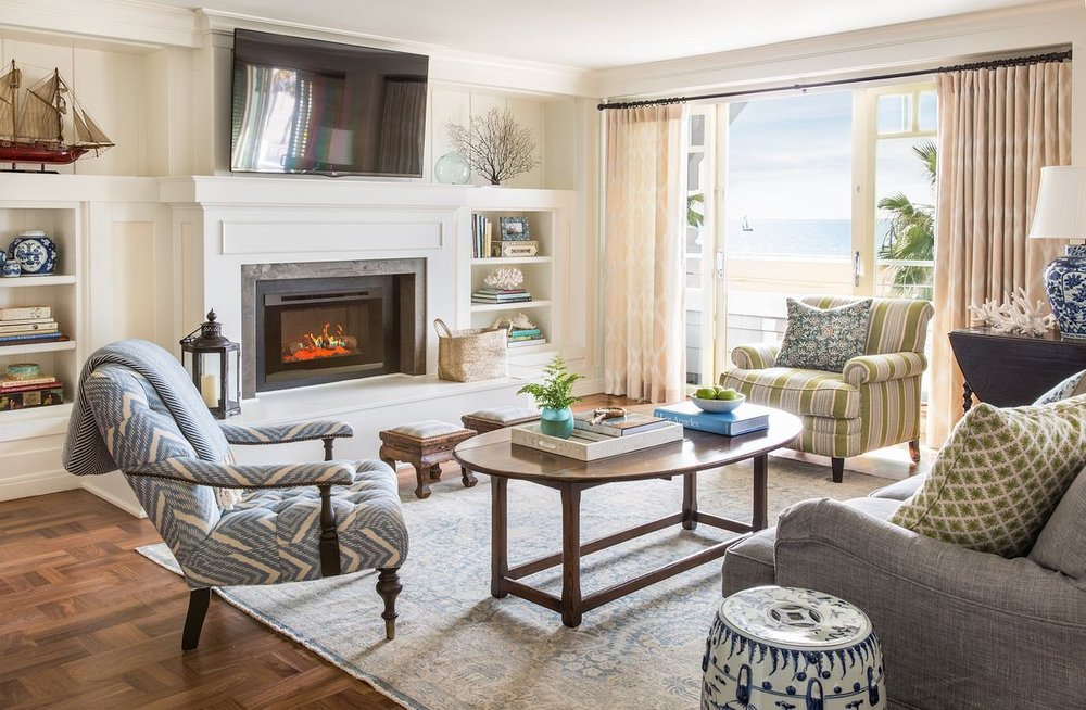 Photo of decorated living room featuring the Brentwood Chair from Rooms and Gardens