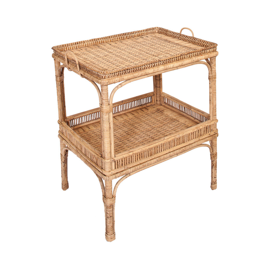 Custom Wicker Tea Cart