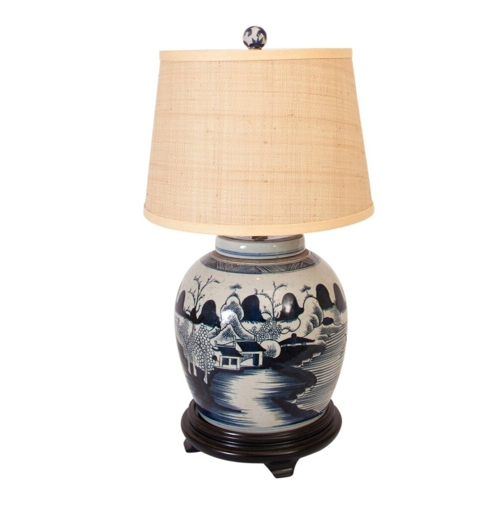 Ginger jar table lamp rooms gardens geotapseo Choice Image