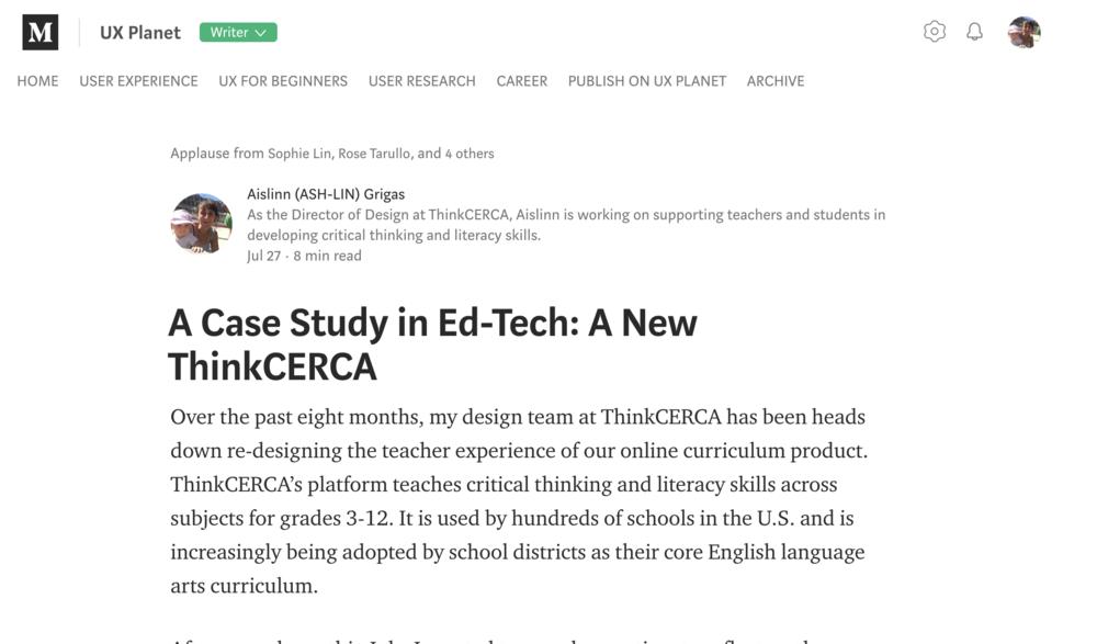 Click to read on Medium -