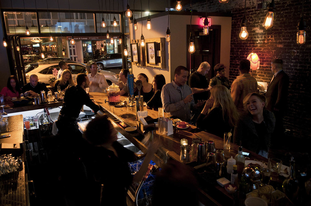 Bar in Swallow restaurant.
