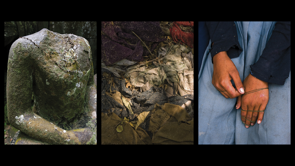 3 Color Photographs (Triptych: 60 x 80 cm each) DVD PAL 16:9 - Color, 3'05 Loop Audio: Stereo PCM, Stereo Dolby Digital