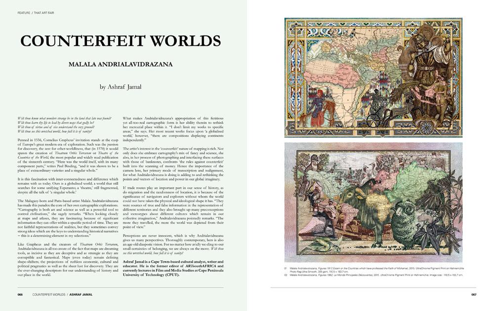 Andrialavidrazana in Art Africa magazine