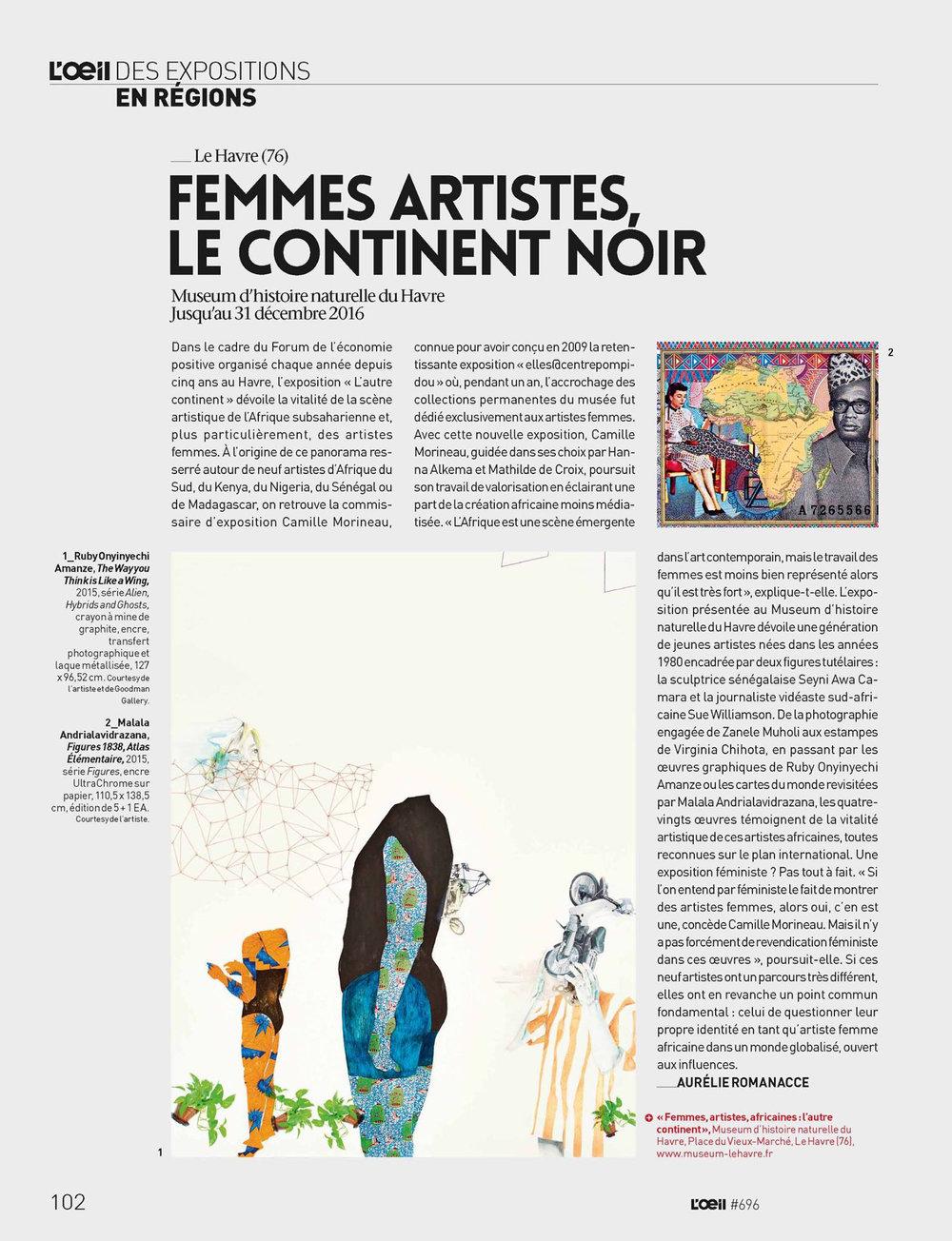 Femmes artistes, le continent noir
