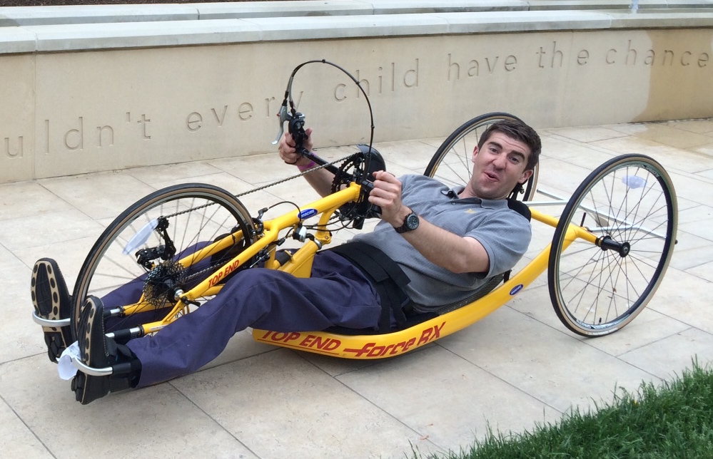 Mike and his handcycle.