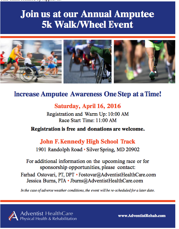 Annual Amputee 5kWalk/Wheel