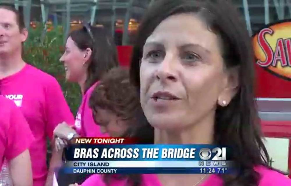 "The 1st Annual Feel Your Boobies ""Bras Across the Bridge"" event was promoted on CBS21. The event doubled the foundation's goal by raising $10,000 for breast cancer awareness."