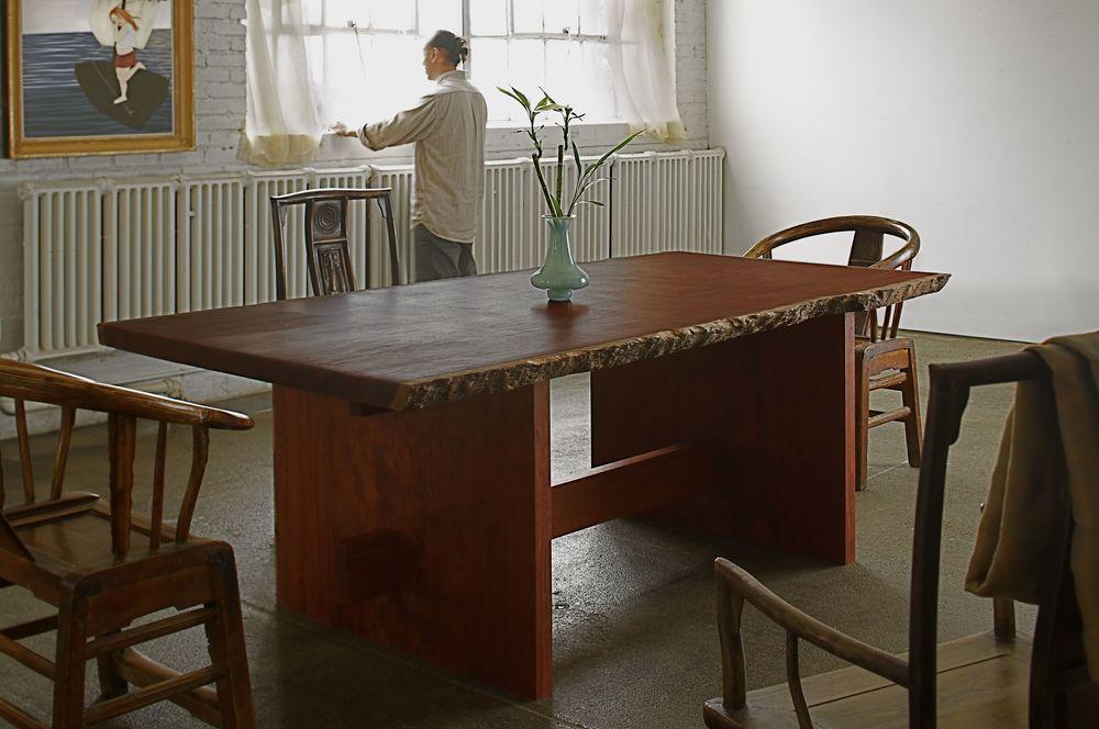 Bubinga Slab Table