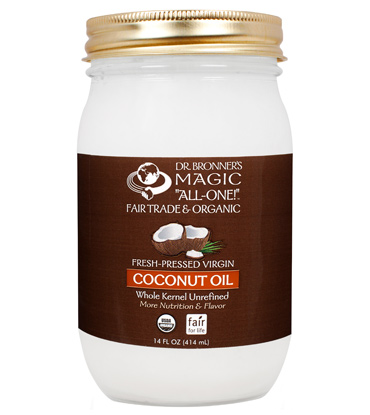 This is the best  coconut oil  I have found. Photo credit to  Dr. Bronners