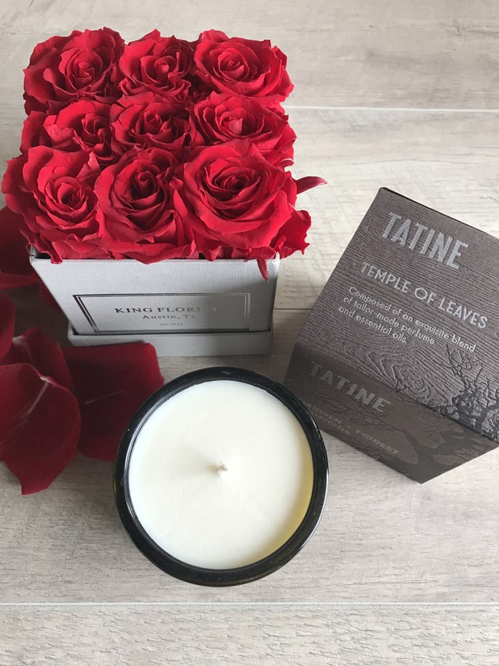 Don't forget your add-ons! Featured here is a stunning  Tatine Candle.