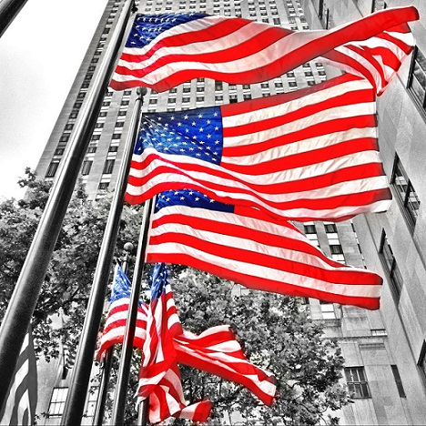 """""""This flag, which we honor and under which we serve, is the emblem of our unity, our power, our thought and purpose as a nation. It has no other character than that which we give it from generation to generation. The choices are ours. It floats in majestic silence above the hosts that execute those choices, whether in peace or in war. And yet, though silent, it speaks to us — speaks to us of the past, or the men and women who went before us, and of the records they wrote upon it."""" ~ President Woodrow Wilson"""