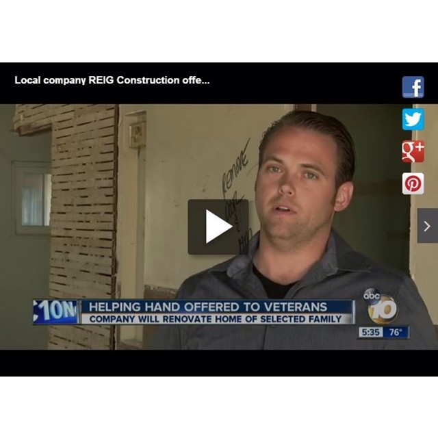 Our very own Patrick Clark was on ABC 10 News yesterday sharing more information about our initiative, #REIGOperationRenovation. #reig #reigconstruction #donation #military #navy #veteran #givingback #sandiego #abcnews