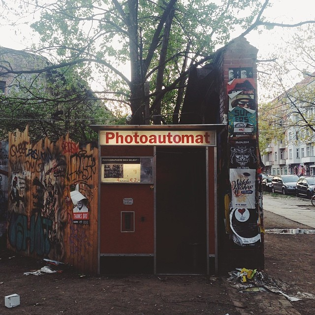 I love seeing these old photo booths around the city.