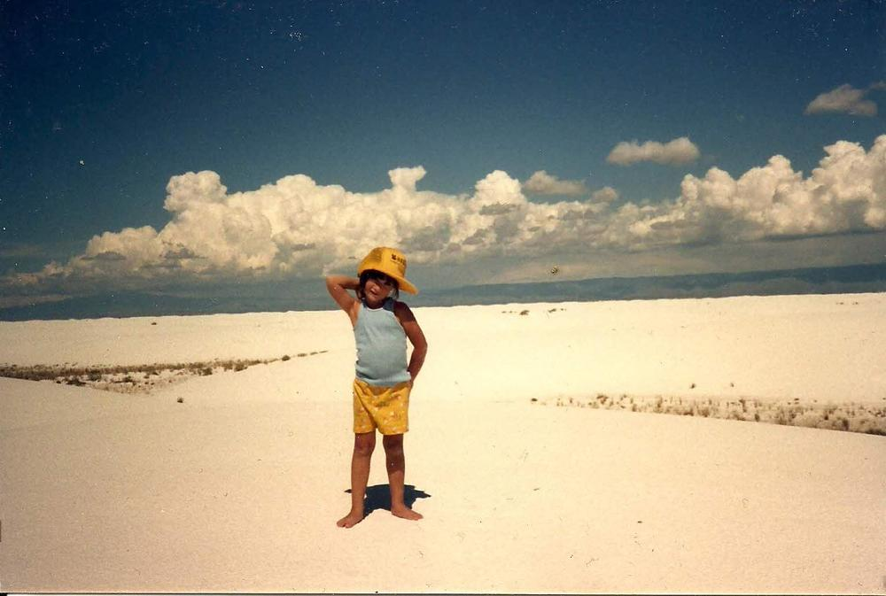 Yep! It's 6 year old me at White Sands Desert, NM.