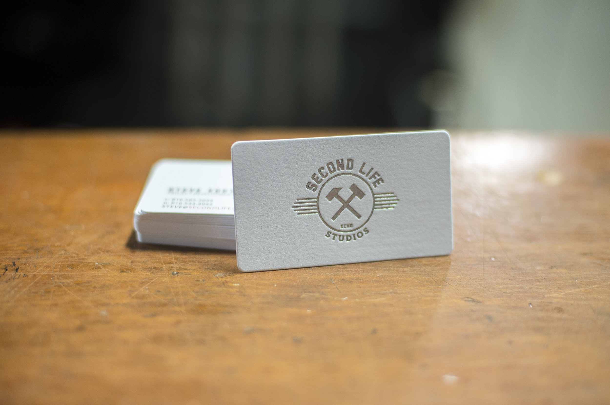 Kc print garage letterpress studio kansas city letterpress business cards get a quote reheart