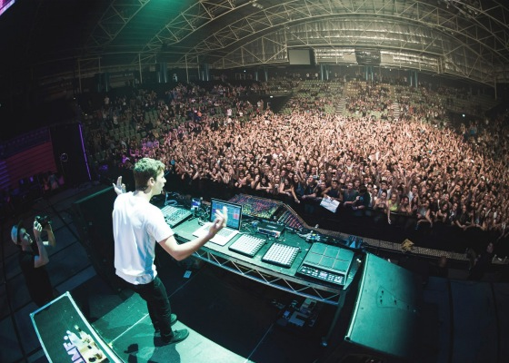 Flume during one of his solo performances