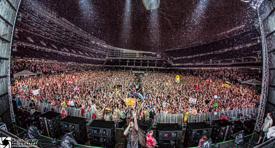 Bassnectar Family Photo Spring Awakening 2013.  This photo is not property of Bass Feeds the Soul