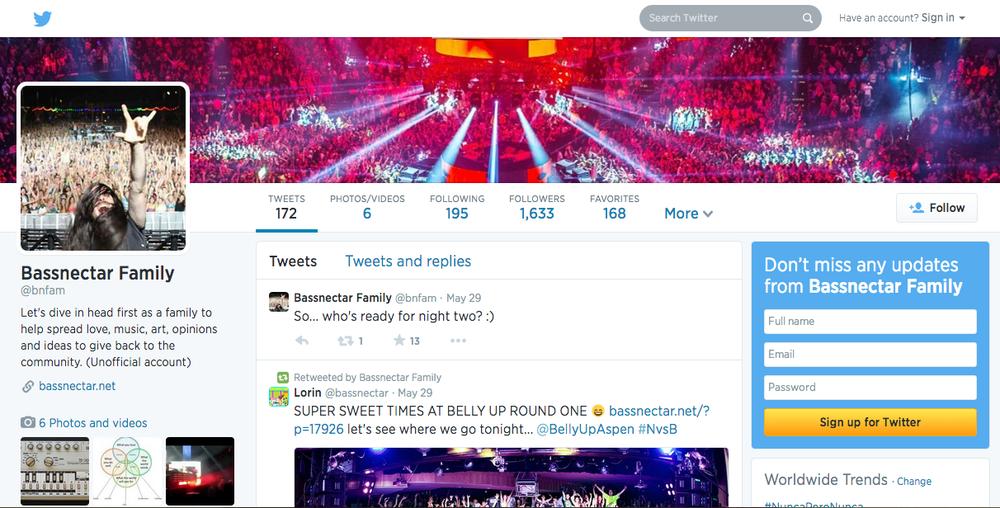 "Bassnectar ""Family"" Twitter"