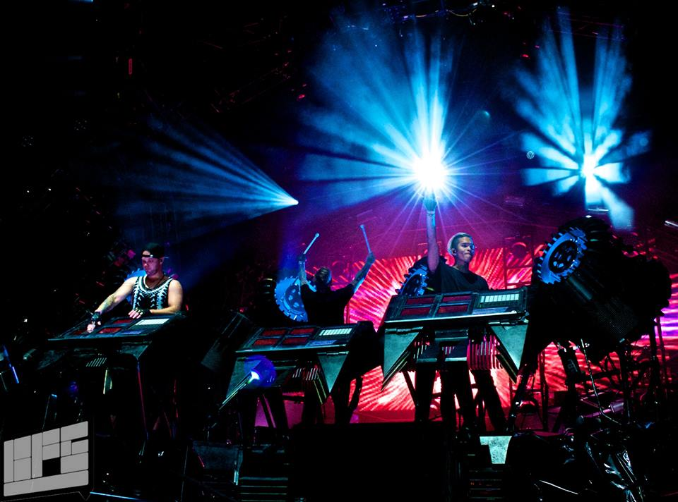 Glitch Mob performing at Electric Forest 2014 in Rothbury, MI Photo By Madi Lawton