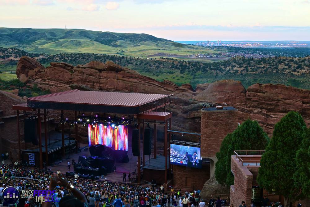 Great overview shot of Red Rocks Ampitheatre
