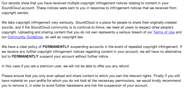 Soundcloud's copyright claims