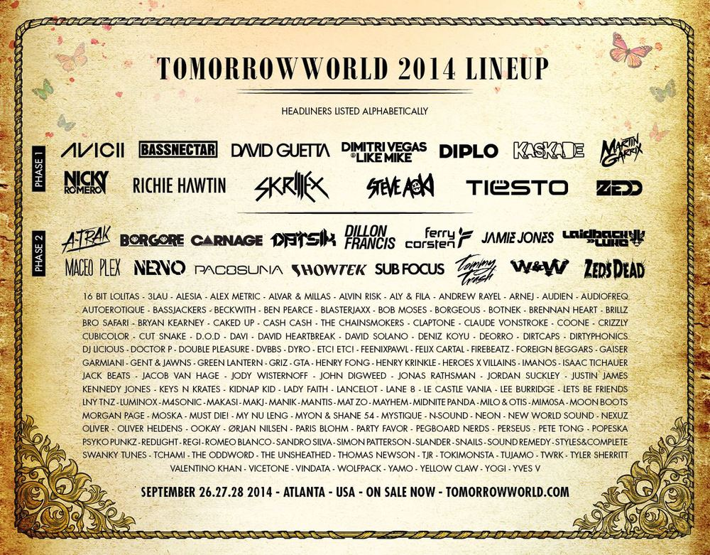 The Incredibly dope 2014 line-up