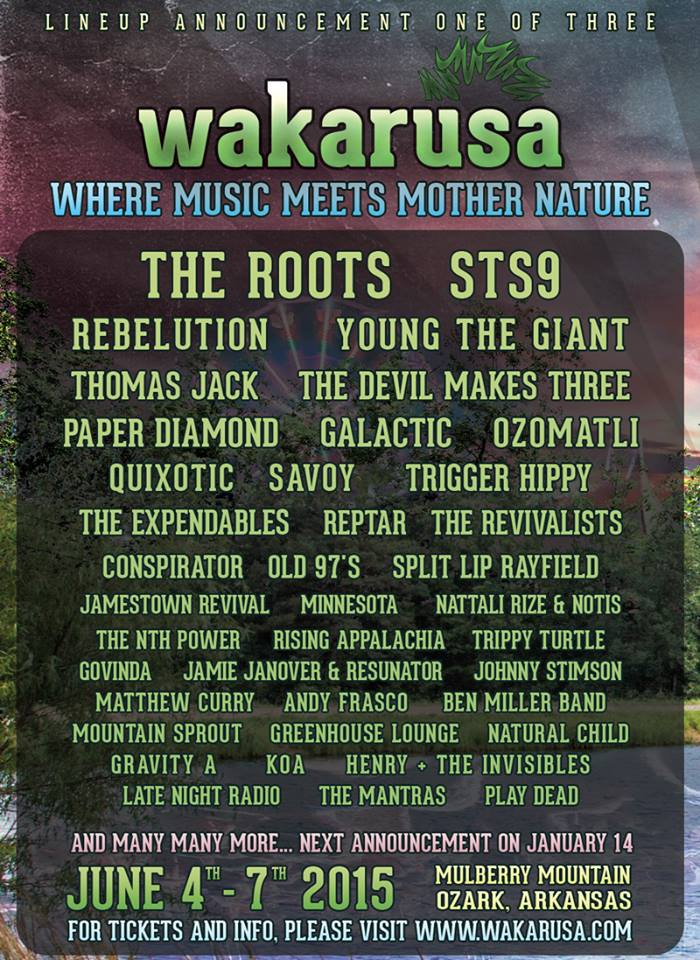 Wakarusa 2015 1st Phase Lineup Announcement