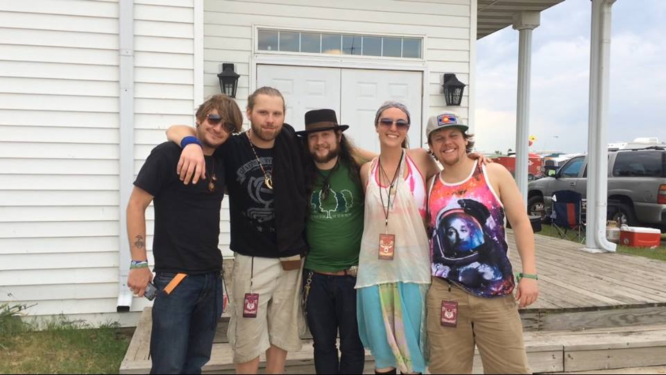 Pictured from left to right: Ryan Dempsey, Zdenek Gubbs, Mihali Savoulidis, myself, and Brook Jordan of Twiddle