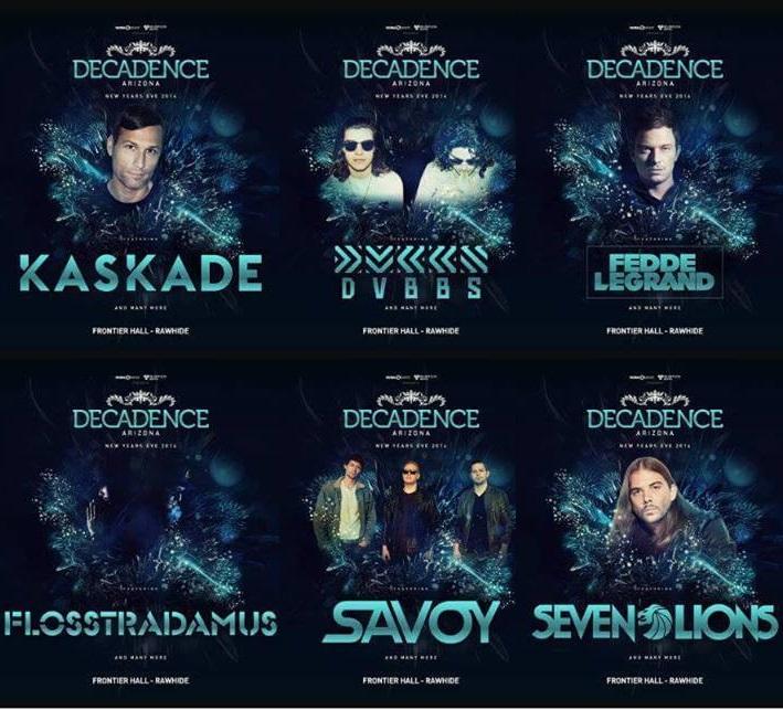Decadence Arizona's 2014 Line-up