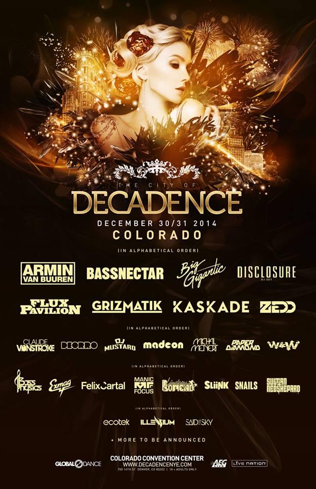 Decadence Colorado's 2014 line-up
