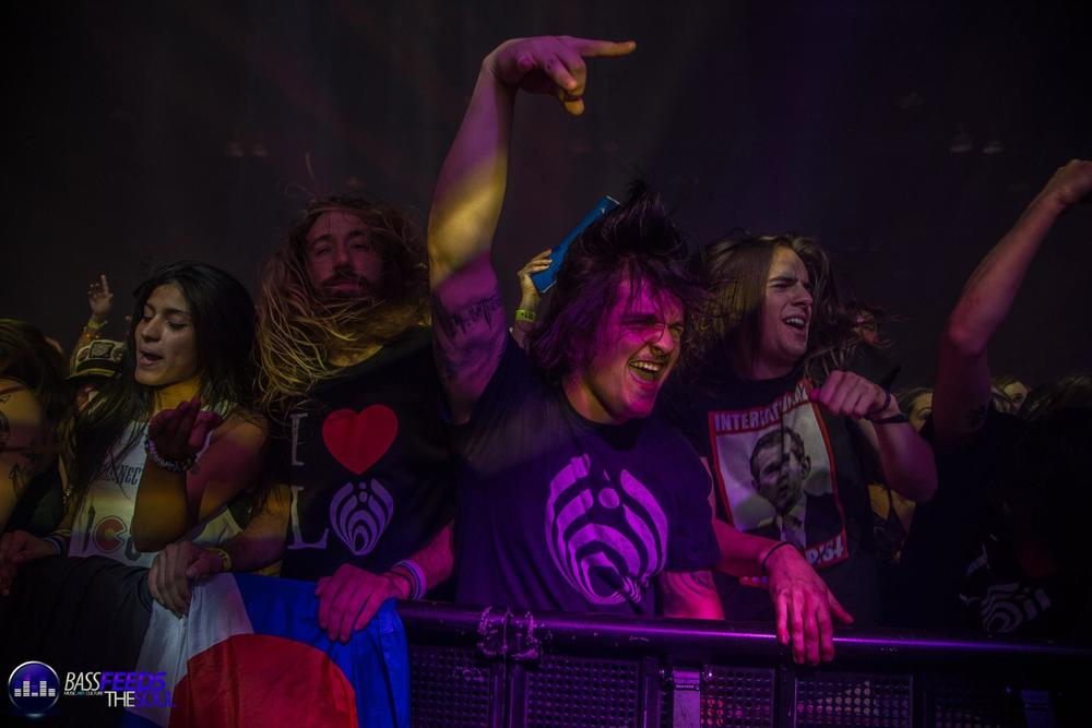 Bashed getting down during Bassnectar's December 30th set photo by Madi Lawton