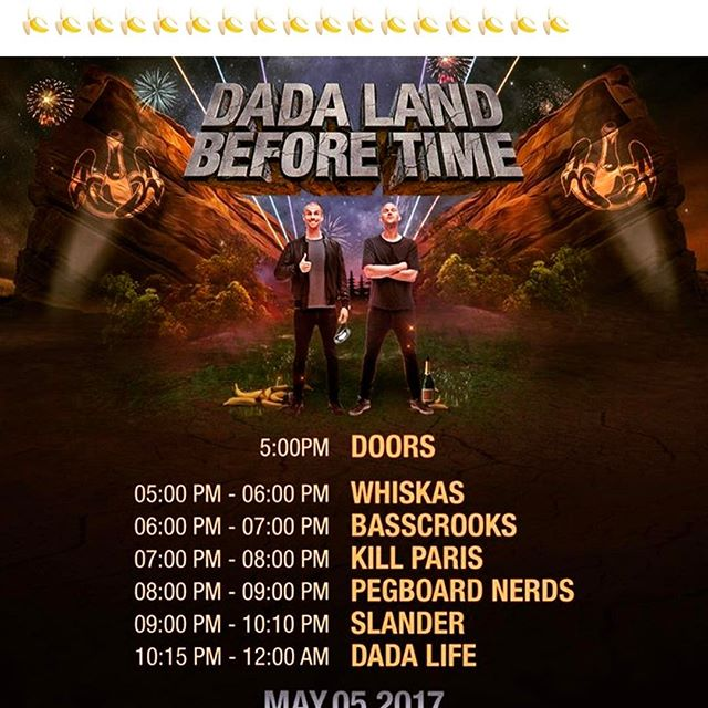 🍌🍌🍌🍌🍌🍌🍌 @dadalife #redrocks2k17#landbeforetime#settimes#4thepeople#bannanapudding  w/ @slanderofficial @pegboardnerds @killparismusic @basscrooks @dj_whiskas