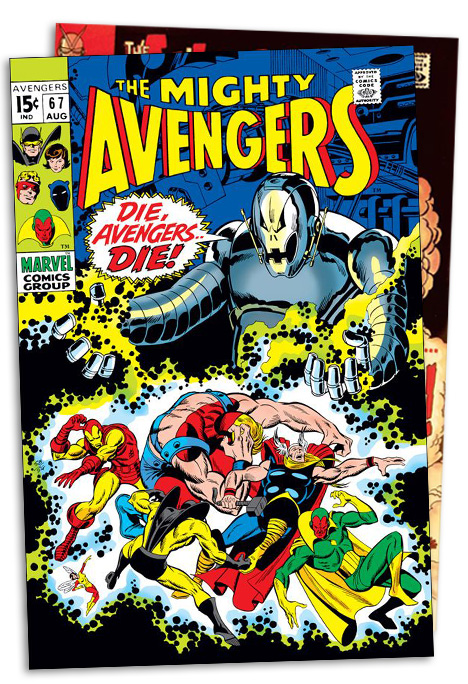 Avengers #67  August 10, 1969 Second appearance of Ultron after The Vision begins to help the Avengers.