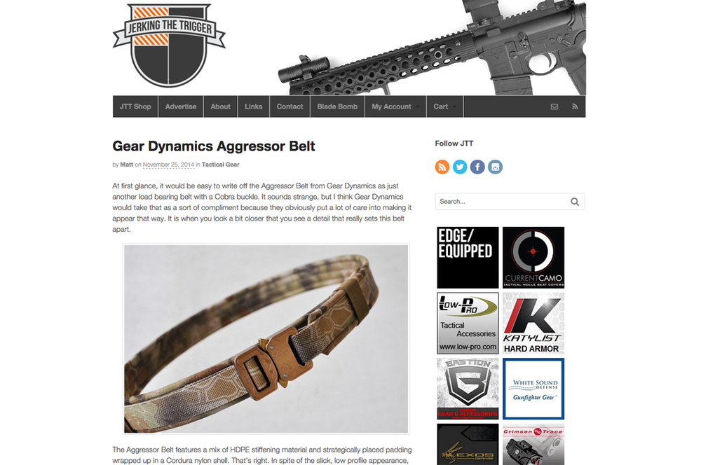 "Jerking The Trigger - 1.5"" Aggressor Belt"