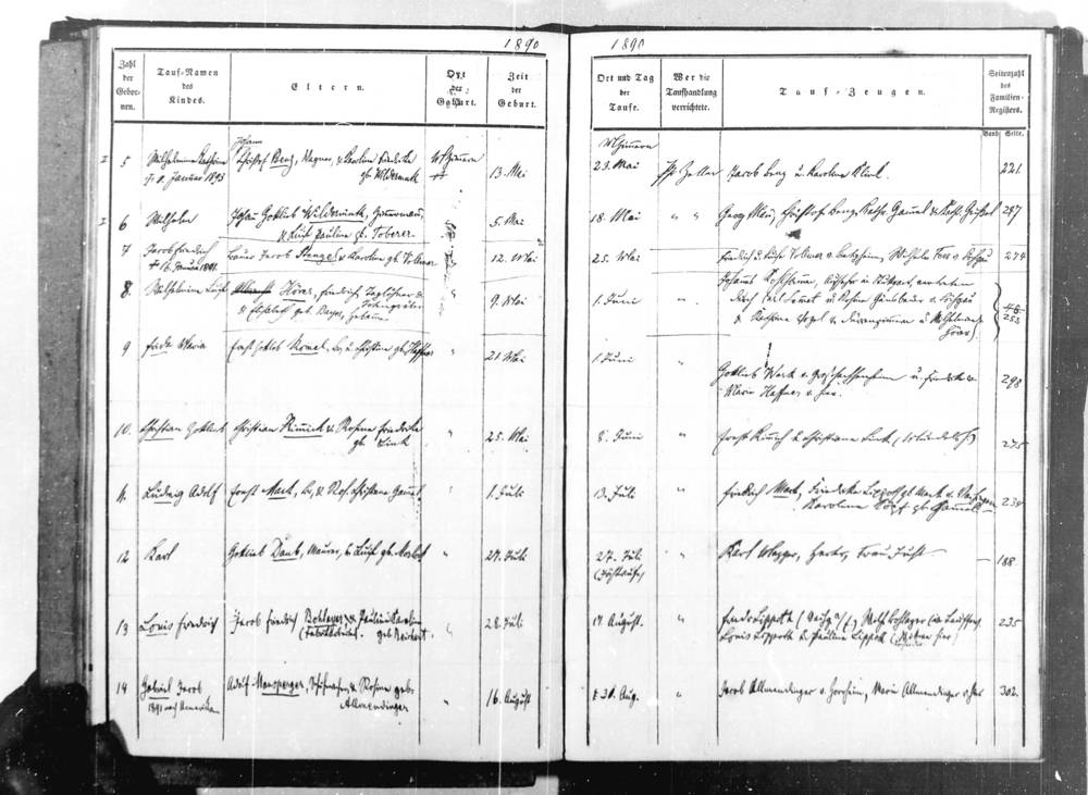 Protestant Baptismal Register, Taufbuch, Bietighiem-Bissengen, Germany